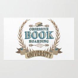 Obsessive Book Hoarding University Rug