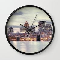 kentucky Wall Clocks featuring Louisville Kentucky by ThePhotoGuyDarren