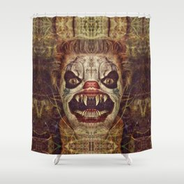 Satanic Clown Shower Curtain