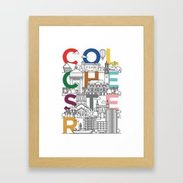 Colchester Town - Typoline Cities Framed Art Print