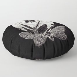 Lunar Moths Floor Pillow