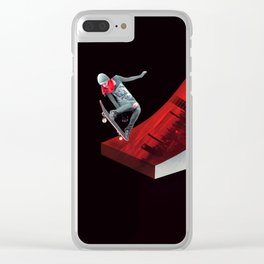 Red skate Clear iPhone Case