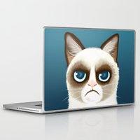 grumpy Laptop & iPad Skins featuring Grumpy by StudioMarimo