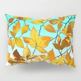 Autumn Leaves Azure Sky Pillow Sham