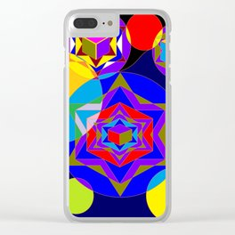 A Galaxy of Stars, Cubes and Planets Clear iPhone Case