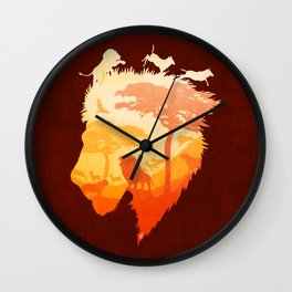 The Soul of a Lion Wall Clock