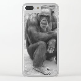 Contemplating Life Clear iPhone Case