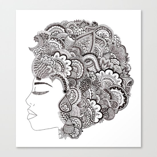 her hair Canvas Print