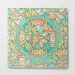 Tropical color abstract Metal Print