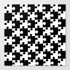 Checkerboard Puzzle Pieces Canvas Print