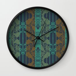 Shadows of Colours in Stripe By Danae Anastasiou Wall Clock