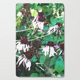 Watercolor Echinacea Cutting Board