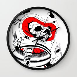 chopped in space Wall Clock