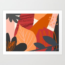 Autumn Abstract 2 Art Print