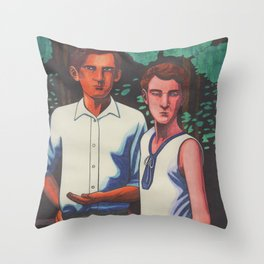 Siegfried and Stephen Throw Pillow