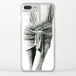 Study in Drapery Clear iPhone Case