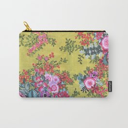 Green Nature, Pink Flowers and Happiness Carry-All Pouch