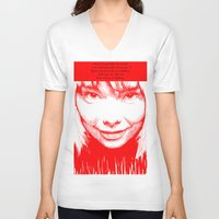 bjork V-neck T-shirts featuring BJORK by Andhika Tile