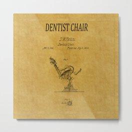 Dentist Chair Patent 1 Metal Print