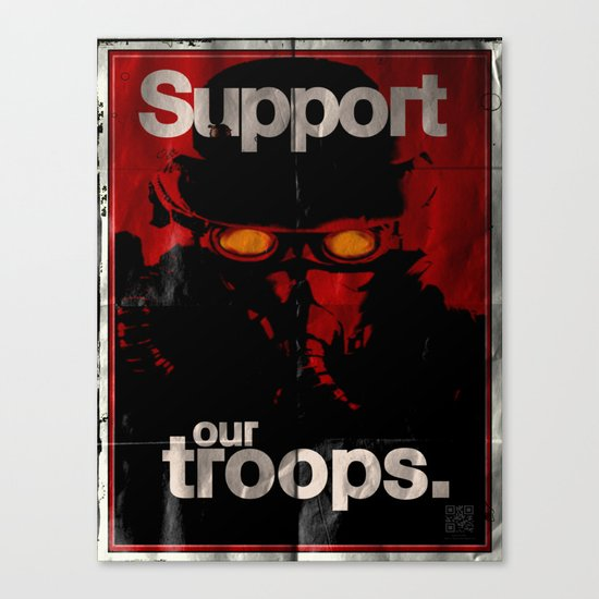 Support Our Troops Canvas Print