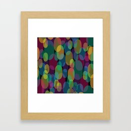 Oval Abstract Pattern Framed Art Print