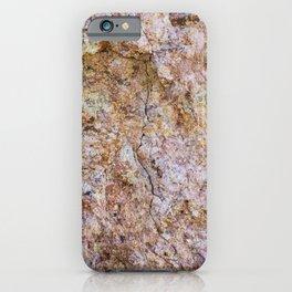Abstract orange granite pattern iPhone Case