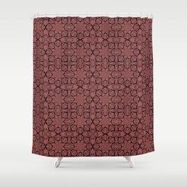 Dusty Cedar Geometric Shower Curtain