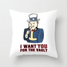 I Want You for the Vault Throw Pillow