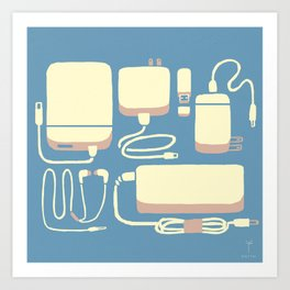 Digital Emergency Kit (Air Blue) Art Print