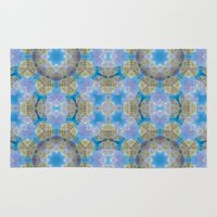 finland Area & Throw Rugs featuring Finland Kaleidoscope by Lu Haddad