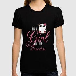 Just A Girl Who Loves Pandas T-shirt