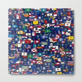 Flags of all US states Metal Print
