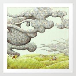 Swirly Clouds Art Print