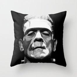 Frankenstien Throw Pillow