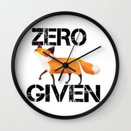 Zero Fox! Wall Clock