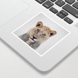 Lioness II - Colorful Sticker