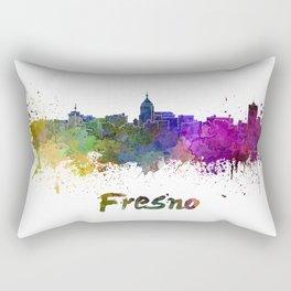 Fresno skyline in watercolor Rectangular Pillow