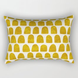 Gold Leaf Rectangular Pillow