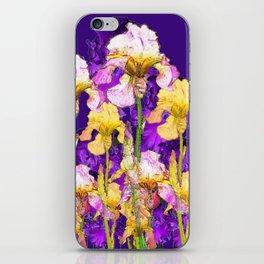 Contemporary Purple Yellow Iris Garden Art iPhone Skin