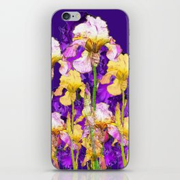 Contemporary Purple Yellow Iris Garden Art iPhone Skin