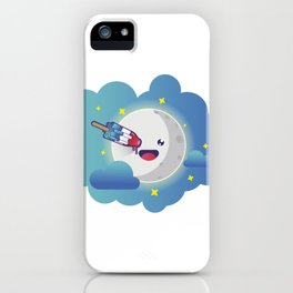 Moon in the clouds with a popsicle iPhone Case