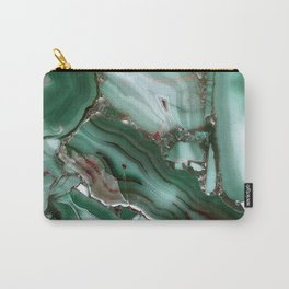 Luxury Malachite Marble Agate Carry-All Pouch