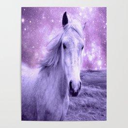 Lavender Horse Celestial Dreams Poster