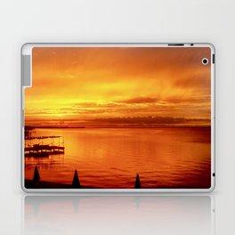 Orange Glow Laptop & iPad Skin