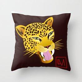Moon Jaguar Throw Pillow