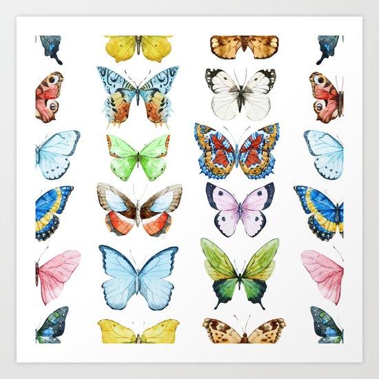 Butterfly Pattern 05 Art Print