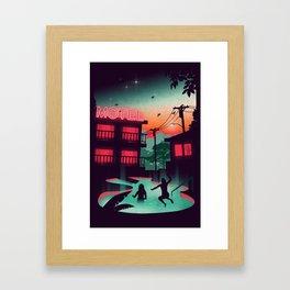 Night Swim Framed Art Print