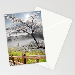 Japanese Cherry Landscape Stationery Cards