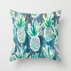 Wild Pineapples Throw Pillow