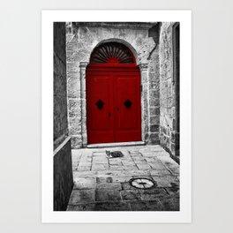 The Red Door | Mdina | Malta Art Print